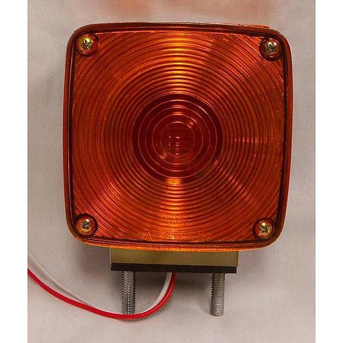 Universal Amber/Red Double-Face Turn Signal- Horizontal Mount