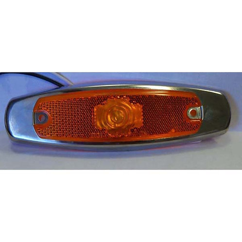 "6 1/4"" Amber LED Clearance Marker Kit- 2 Led"