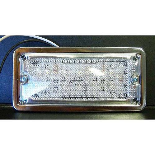 """5"""" Rectangular Chrome Dome Light- 10 Led"""