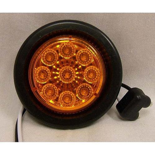 """2"""" Diameter - Amber Lens - LED - Reflex Clearance Marker - Kit"""