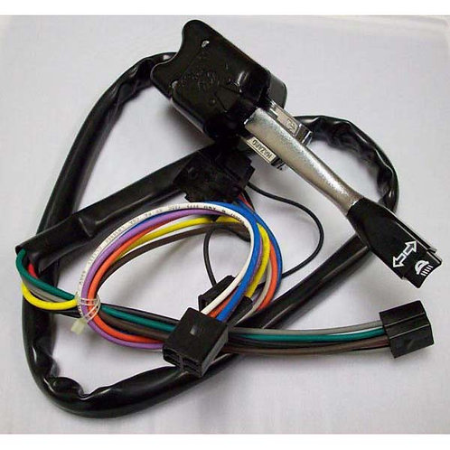 Turn Signal Switch W/ Dimmer - Black - Peterbilt