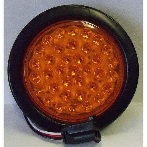 "Warning Light - 4"" Amber Round Plug Kit - 36 Led"
