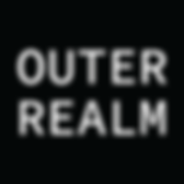Outer Realm Logo White Text Black Backgr