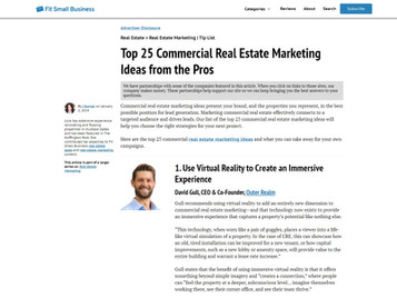 Featured: Top 25 Commercial Real Estate Marketing Ideas from the Pros