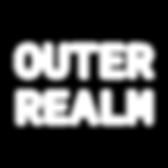 Outer Realm Logo White Text No Backgroun