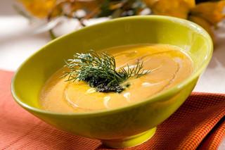 Sopa de zanahoria y cilantro