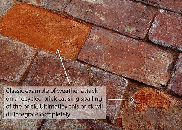 Recycled Brick Damage