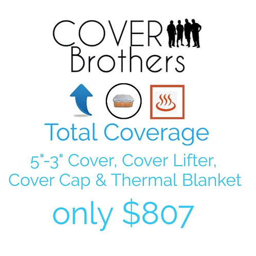 "TOTAL COVERAGE 5""-3"" Taper, 4ml vapor barrier, covercap, thermal blanket, lifter"