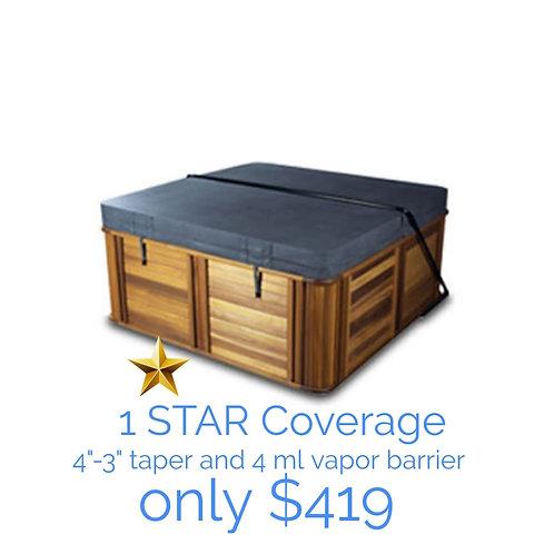 """1 STAR COVERAGE 4""""-3"""" Taper, 4ml vapor barrier"""