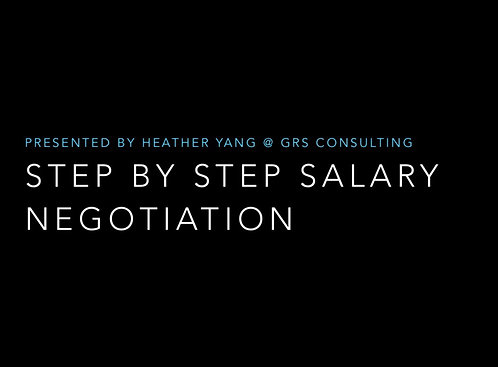 Step by Step Salary Negotiation