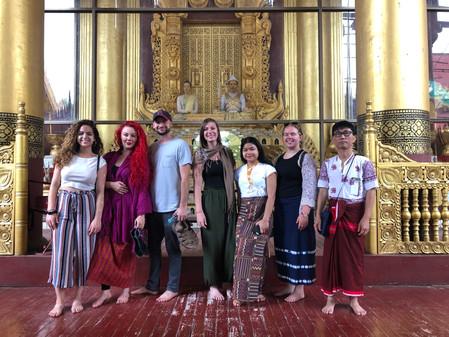 Group Photo at the Schwedegon Pagoda