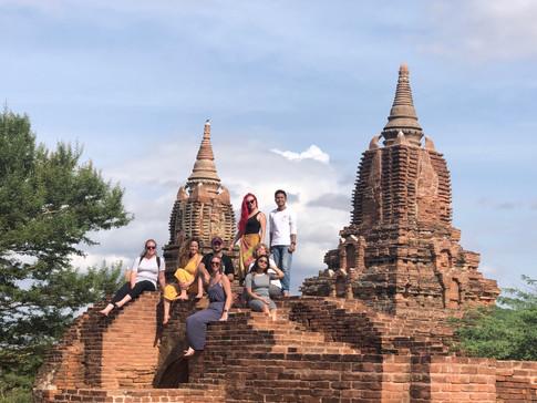 Group Photo in Bagan