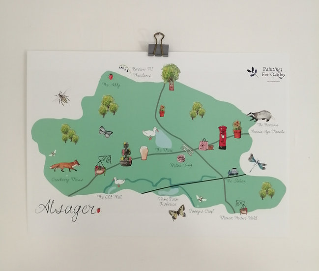 Alsager Map Print
