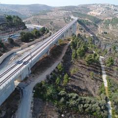 גשר רכבת (גשר 10) בכניסה לירושלים