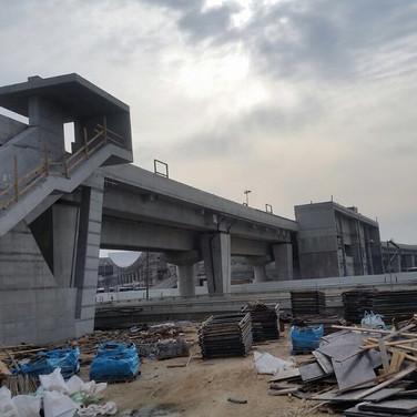 מרכזית לב המפרץ גשר לרציפי רכבת