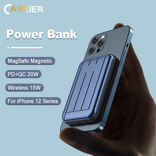 Magnetic 15W Wireless Power Bank Fast Charging Magnetic Charger iPhone 12 Pro