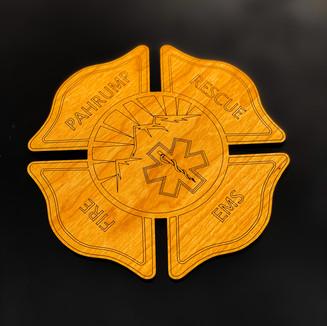 First Responder Wood Coasters