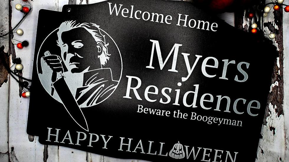 Halloween Horror Welcome Sign