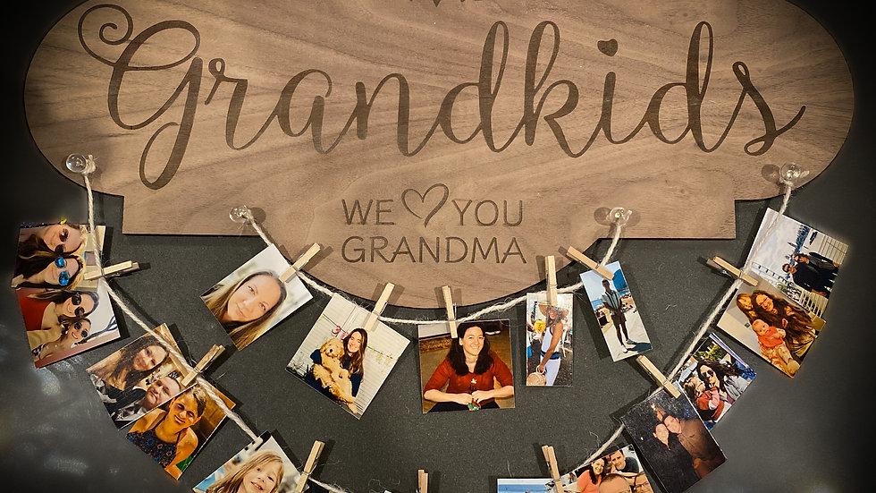 Grandkids Laser Engraved Wooden Sign