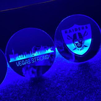 Vegas Themed Mirror Gass Coasters