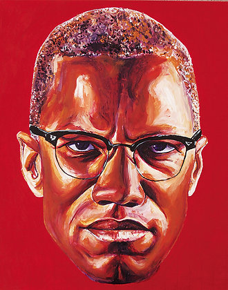 Malcolm X: Acrylic Painting Replica on Panel