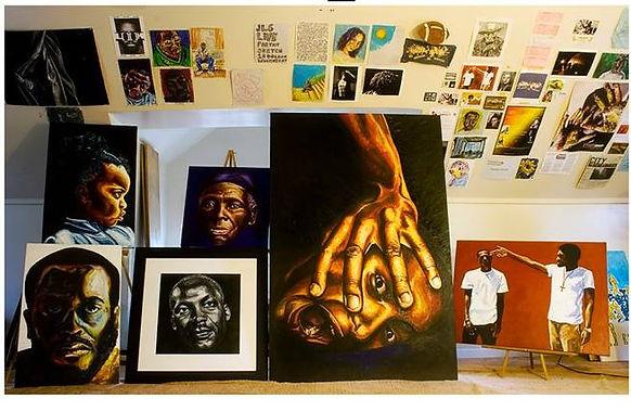 JLS Art everythingjls.com, Johnnie Lee Smith, Struggle, Art room, painting