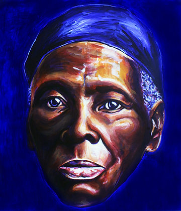 Harriet Tubman: Acrylic Painting Replica on Panel
