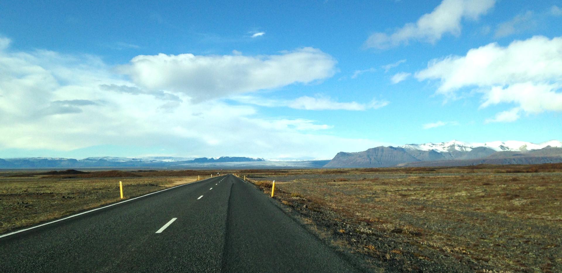 → Vue sur paysage islandais
