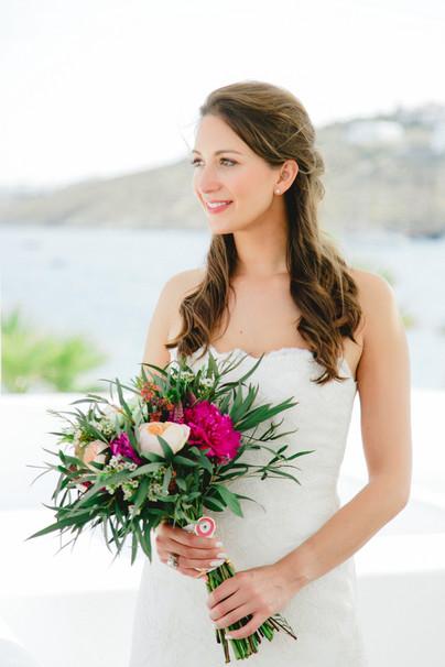 MINIMAL BOHO STYLE BEACH WEDDING ON MYKONOS