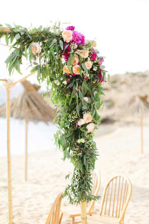 MINIMAL BOHO STYLE BEACH WEDDING ON MYKONOS