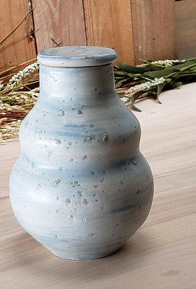 Double Bubble Mini Ceramic Jar