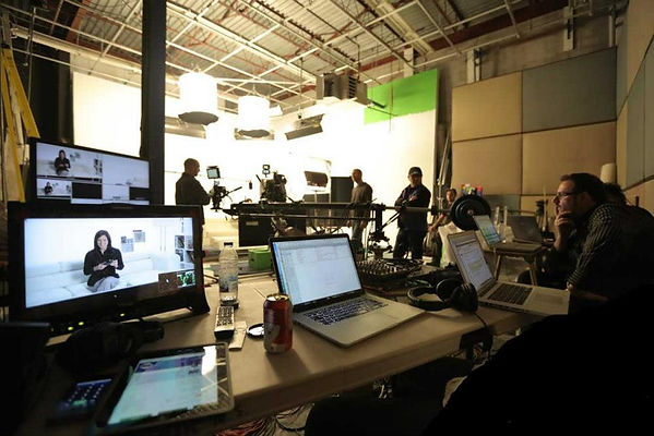 Our in house studio is available for your next video production in montreal