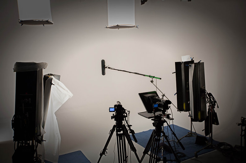studio de prise de vue avec un cyclorama