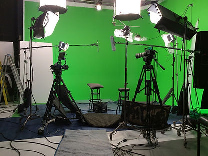 Notre studio green screen
