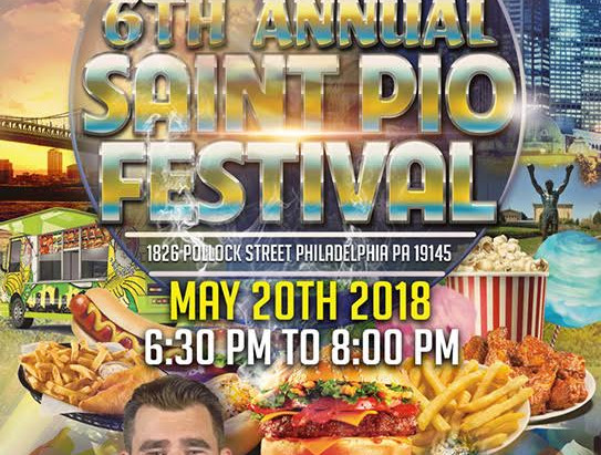 St. Pio Festival this weekend with Avalon