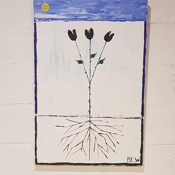 Die Wurzel der Blume