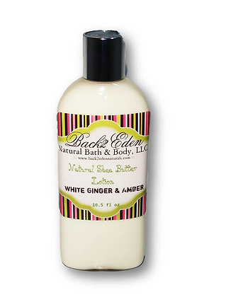 White Ginger & Amber Shea Butter Lotion