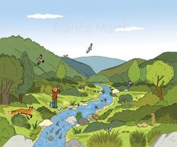 Los animales y el río