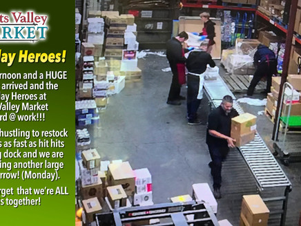Sunday Afternoon and our Scotts Valley Market Team is hard at Work!