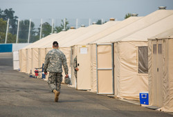 tents and military man