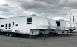 fleet of office trailers