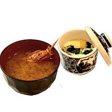 1人前ご注文の方には、茶碗蒸し・お味噌汁サービス