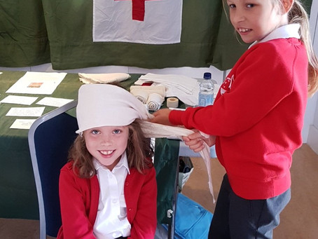 Pupils learn about WW1 at Teign Heritage Centre