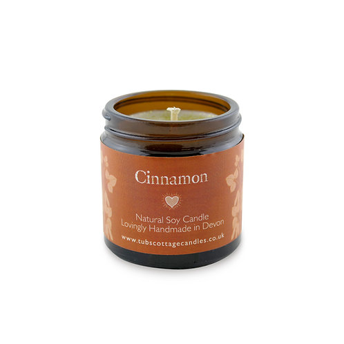 Mini Cinnamon soy wax candle with pure essential oil