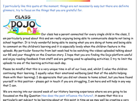 Year 1 Weekly Newsletter 27th April