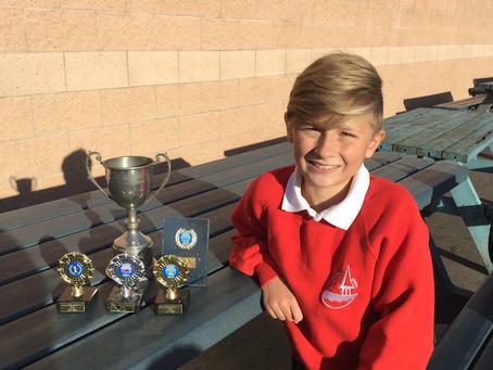 Jack's haul of trophies!