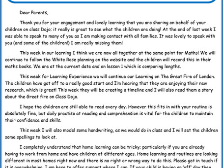 Year 2 - Home Learning 27th April