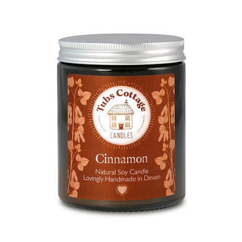Cinnamon soy wax candle with pure essential oil
