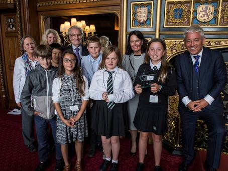 Shaldon pupils visit Parliament to collect award