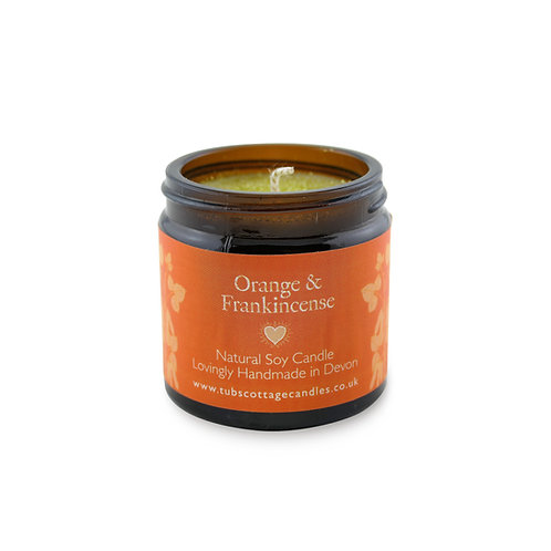 Mini Orange & Frankincense soy wax candle with pure essential oils